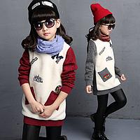 Модная теплая туника свитер на девочку