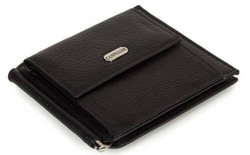 Кожаный зажим для купюр Canpellini, SHI073-2-011, черный