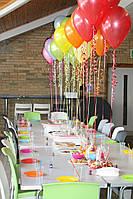 Оформление зала гелиевыми шарами!