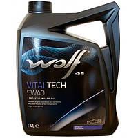 Моторное масло Wolf Vitaltech 5W-40 4л