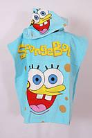 Полотенце пончо для пляжа Спанч Боб