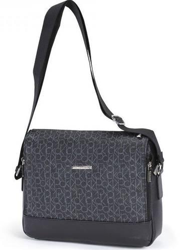 Солидная молодежная сумка  через плечо Dolly (Долли) 636 черный