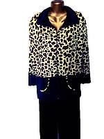 Велюровый женский костюм-леопардовый