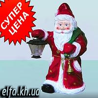 Новогодняя фигура Дед Мороз с фонарем 70 см