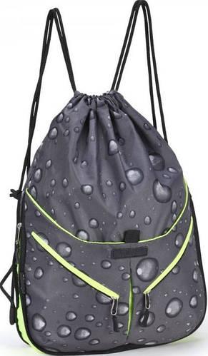 Спортивный прочный молодежный  рюкзак, Dolly (Долли) 835 серый