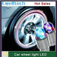 Светящиеся светодиодные колпачки с фотоэлементами на колеса для авто, мотоцикла (радужный)