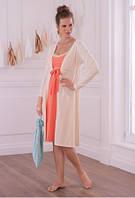 Комплект для будущей мамы - состоит из ночной сорочки, халата и тапочек  Anita