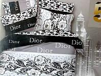 5D Постельное двуспальное белье ткань сатин черно-белое
