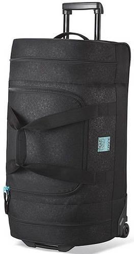 Дорожная сумка на колесах Dakine Womens Duffle Roller 90L Lattice Floral 610934899948 черная