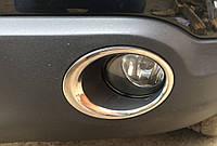 Накладки на противотуманки Nissan Qashqai (ниссан кашкай) 2010 -14, нерж