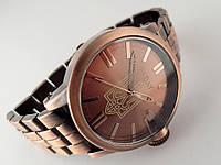 Часы стальные с Гербом Украины -  NEW DAY, медный цвет
