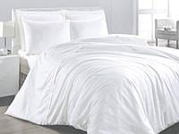 Двухспальное постельное белье Белое ранфорс Вилюта