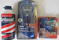 Подарочный набор Gillette Fusion ProGlide Power + 8 картриджей Gillette Fusion ProGlide Power + пена Barbasol