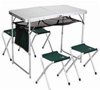 Складной комплект для пикника стол и 4 стула (раскладная мебель)