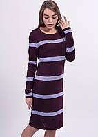 Стильное платье в сочетании модных цветов с длинным рукавом, фото 1