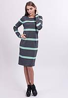 Вязанное платье в полоску, фото 1