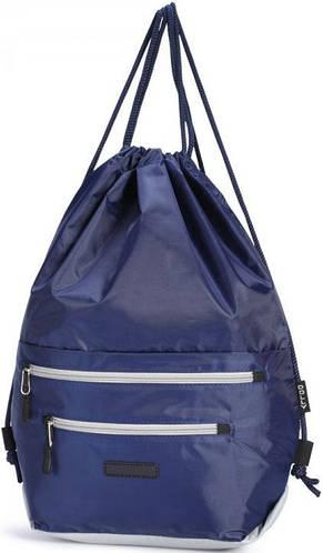 Замечательный молодежный  рюкзак-мешок, Dolly (Долли) 833 синий