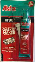 Термостойкий силиконовый герметик  Akfix HT300 50 мл красный