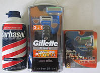 Набор Gillette Fusion ProGlide Styler 3-in-1 + 8 картриджей Gillette Fusion ProGlide Power + пена Barbasol США