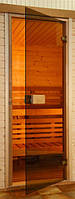 Двери для сауны 70x200 saunax Classic (бронза мат)