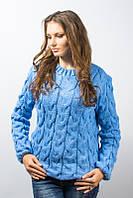 Кофта женская Лало джинс голубой р.46-50 AL113