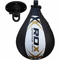 Пневмогруша боксерская RDX Leather White. Доставка бесплатно! Золотистый