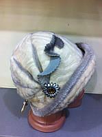 Шляпка  из искусственной нерпы с отворотом