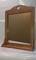 Зеркало настенное с полочкой