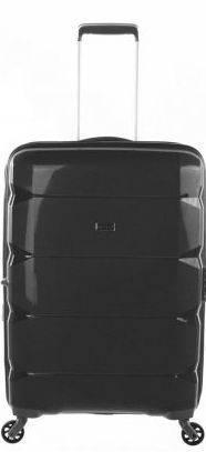 Большой оригинальный 4-х колесный чемодан 100 л. Puccini РР-007, 8024/1 черный