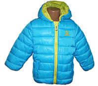 Детская куртка для девочки демисезонная с капюшоном