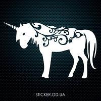 """Наклейка на стену, стекло, зеркало, детский декор  """"Единорог, лошадка"""""""