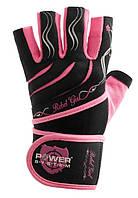 Перчатки для тяжелой атлетики женские POWER SYSTEM Розовый