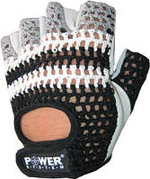 Перчатки для фитнеса - двойной слой кожи -  POWER SYSTEM Белый