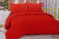 Стеганное покрывало на кровать евро-размер красное