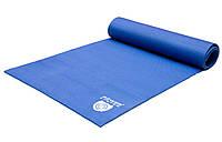 Коврик для йоги и фитнеса 173х61 см Power System Синий