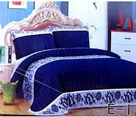 Плед-покрывало евро-размер East Comfort синего окраса