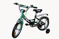 Детский велосипед с ручным тормозом Марс 20 зеленый / черный