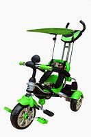 Велосипед детский 3-х колесный с багажной сумкой MarsTrike анимэ салатовый
