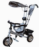 Велосипед детский 3-х колесный с защитным бортиком Mini Trike серебристый