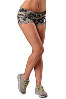 Женские шорты для фитнеса Berserk Sport камуфляжный