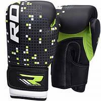Кожаные боксерские перчатки для детей 04-12 лет RDX зеленый
