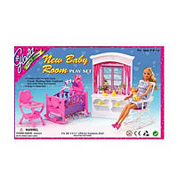Набор мебели для куклы Барби «Детская комната» арт. 24022