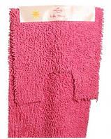 """Комплект ковров ванна + туалет """"Ежик"""" 100% хлопок производство Индия Розовый"""