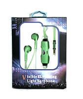 Наушники со светящимися проводами MDR 618 light  с микрофоном