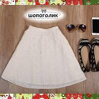 Белая сливочно-кремовая юбка из кружев «Baltimore League»