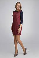 Молодежное платье с контрастным 3/4 рукавом, фото 1