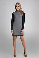 Классическое черно-белое вязаное платье., фото 1