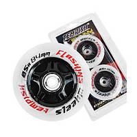 Колеса светящиеся для роликовых коньков Tempish FLASHING 76 х 24 мм 85А, 2 шт (AS)
