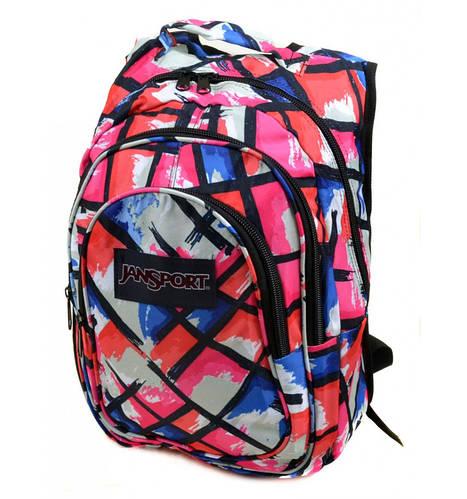 Яркий женский городской рюкзак 28 л. Jansport 3333-8 розовый
