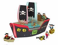 """Krooom Картонный 3D-игровой набор """"Пиратский корабль Купер"""""""